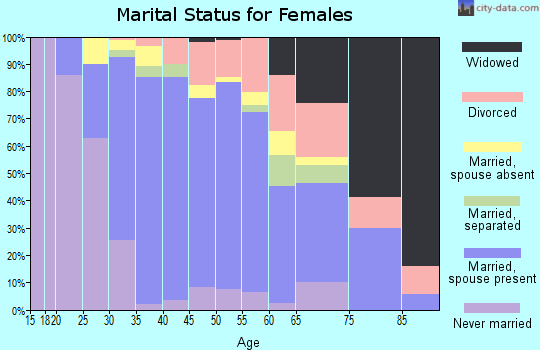 Zip code 95138 marital status for females