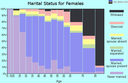 Zip code 95148 marital status for females