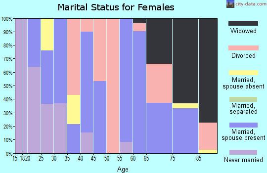 Zip code 95249 marital status for females