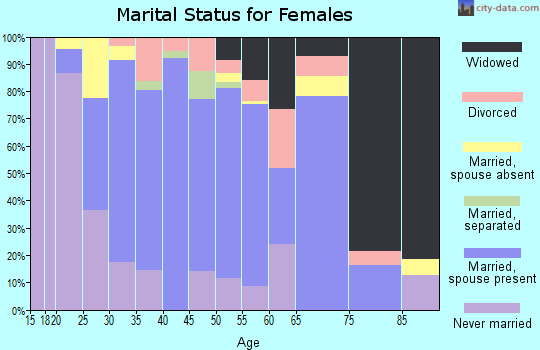 Zip code 95315 marital status for females