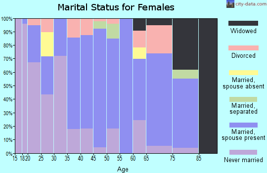 Zip code 95333 marital status for females
