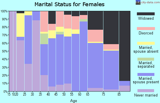 Zip code 95338 marital status for females