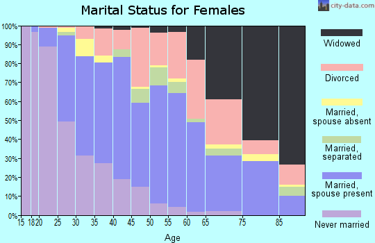 Zip code 95348 marital status for females