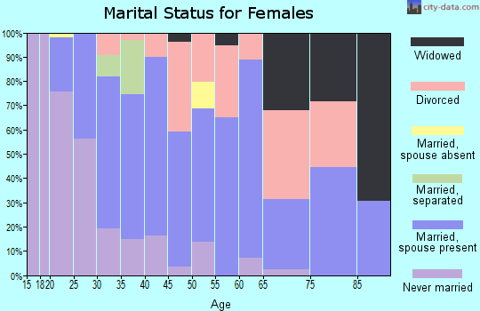 Zip code 95360 marital status for females