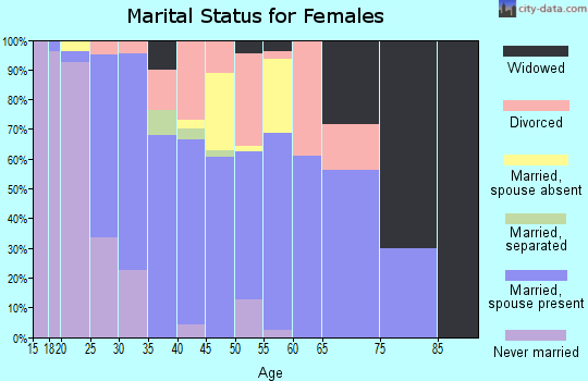 Zip code 95386 marital status for females