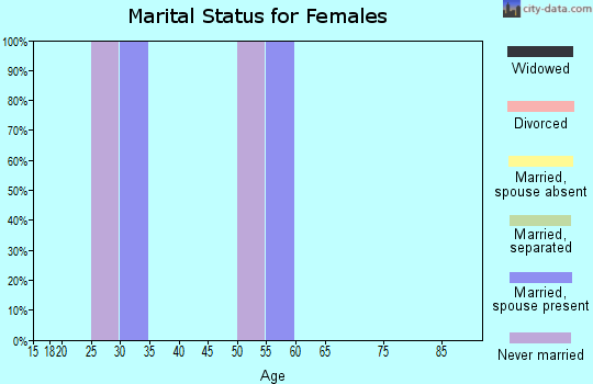 Zip code 95511 marital status for females