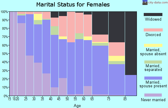 Zip code 95540 marital status for females