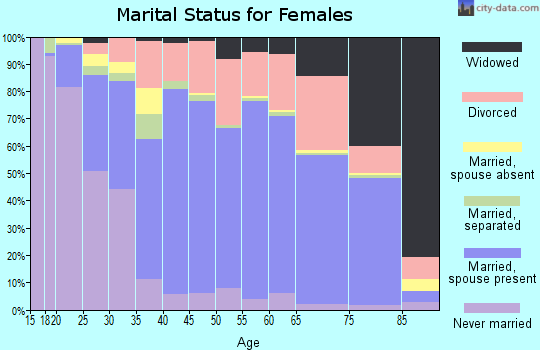 Zip code 95667 marital status for females
