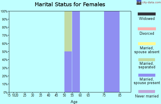 Zip code 95675 marital status for females