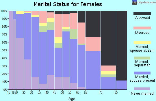 Zip code 95961 marital status for females