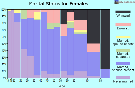 Zip code 95963 marital status for females