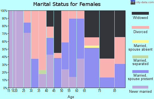 Zip code 96013 marital status for females