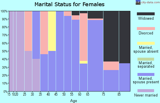 Zip code 96059 marital status for females