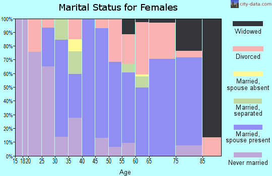 Zip code 96067 marital status for females