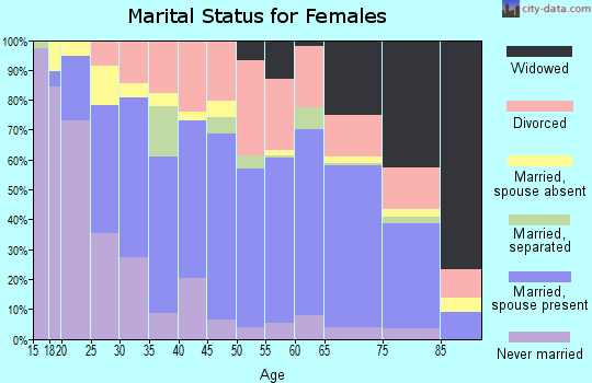 Zip code 96080 marital status for females