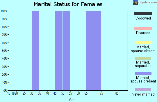 Zip code 96116 marital status for females