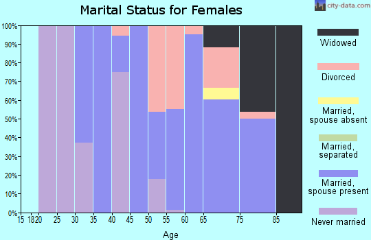 Zip code 96118 marital status for females