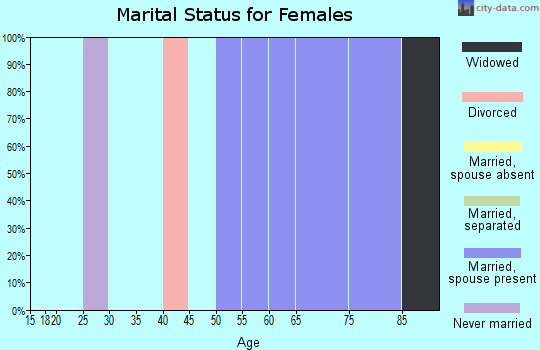 Zip code 96121 marital status for females
