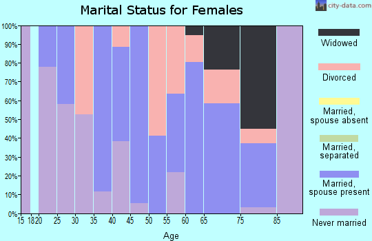 Zip code 96145 marital status for females