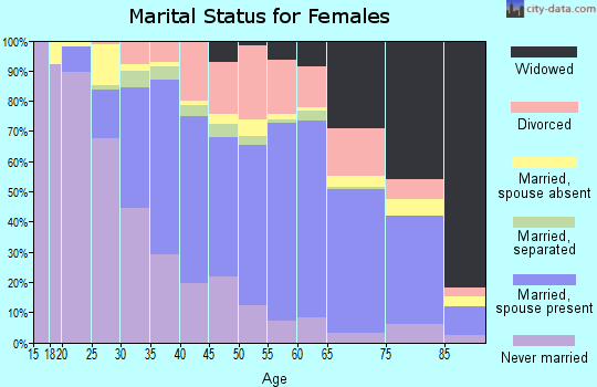 Zip code 96720 marital status for females