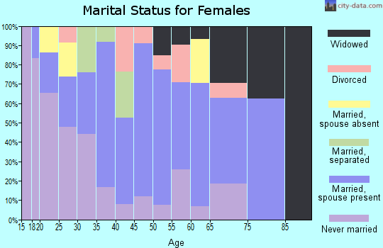 Zip code 96729 marital status for females