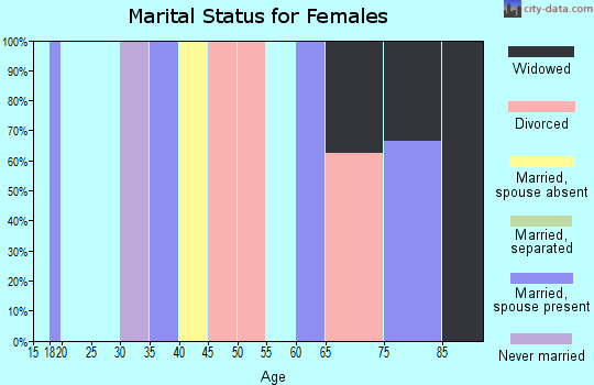 Zip code 96742 marital status for females
