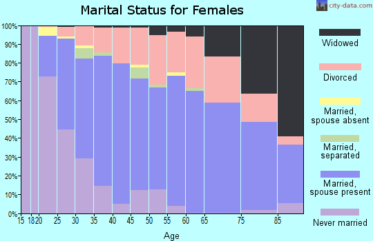 Zip code 97306 marital status for females