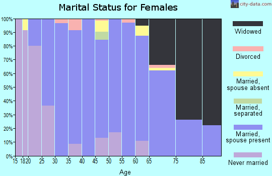 Zip code 97358 marital status for females