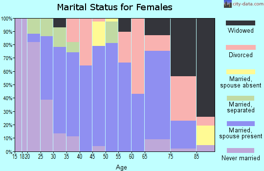 Zip code 97385 marital status for females