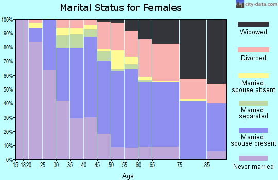 Zip code 98146 marital status for females