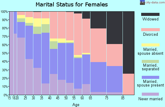 Zip code 98204 marital status for females