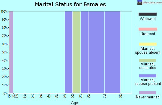 Zip code 98297 marital status for females