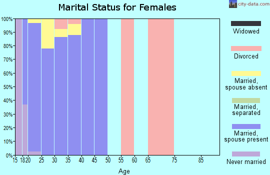 Zip code 98315 marital status for females