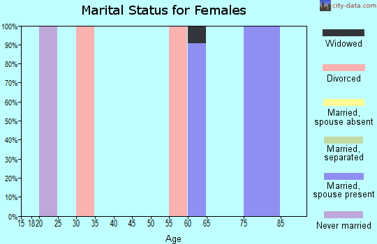Zip code 98535 marital status for females