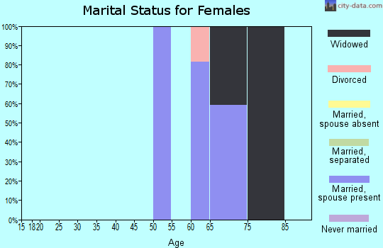 Zip code 98581 marital status for females