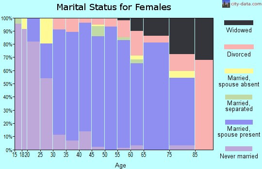 Zip code 98606 marital status for females