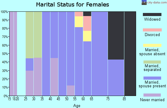 Zip code 98635 marital status for females
