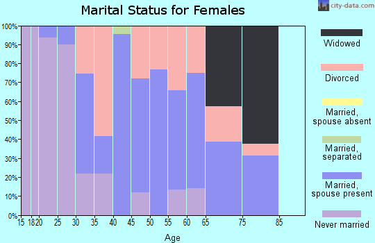 Zip code 99013 marital status for females