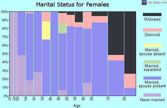 Zip code 99122 marital status for females