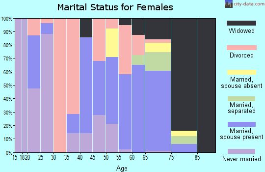 Zip code 99133 marital status for females