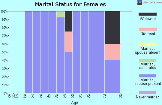 Zip code 99135 marital status for females