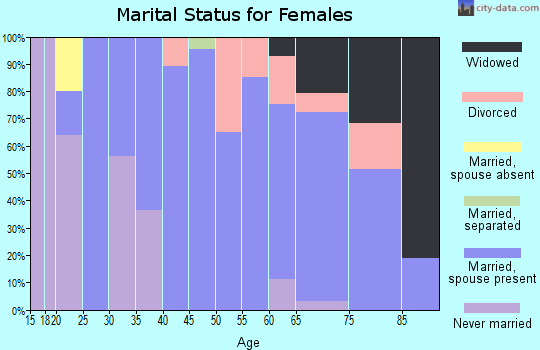 Zip code 99148 marital status for females
