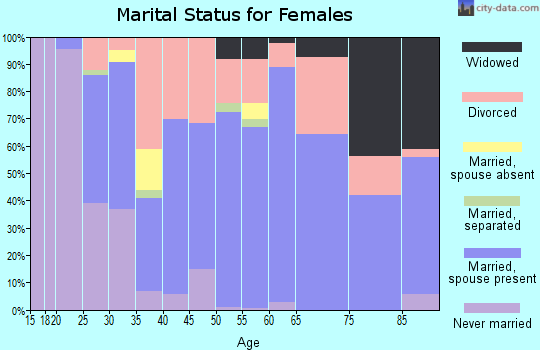 Zip code 99156 marital status for females