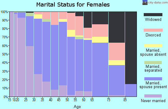 Zip code 99163 marital status for females