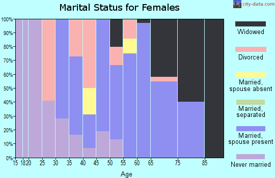 Zip code 99402 marital status for females