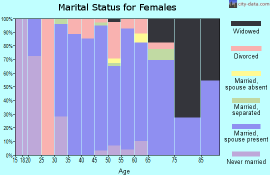 Zip code 99610 marital status for females