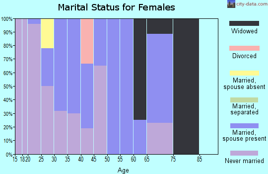 Zip code 99636 marital status for females