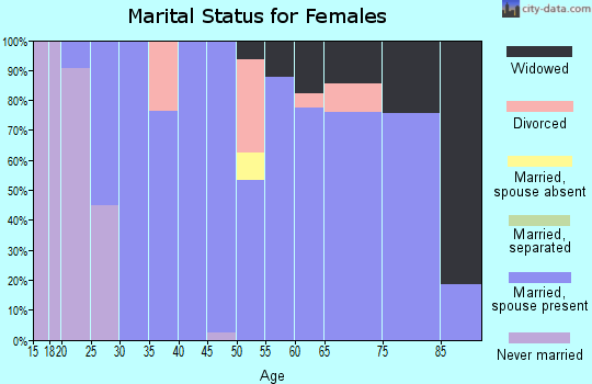 Zip code 99672 marital status for females