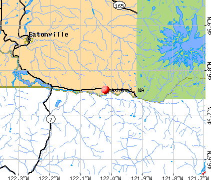 Ashford, WA map